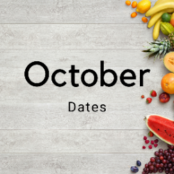 October Meal Provider Dates
